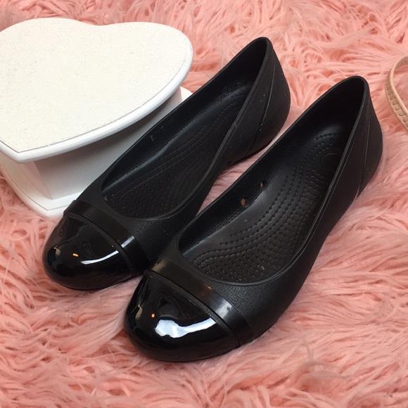 63 Off Crocs Shoes Women S Black Crocs Ballet Flat Type